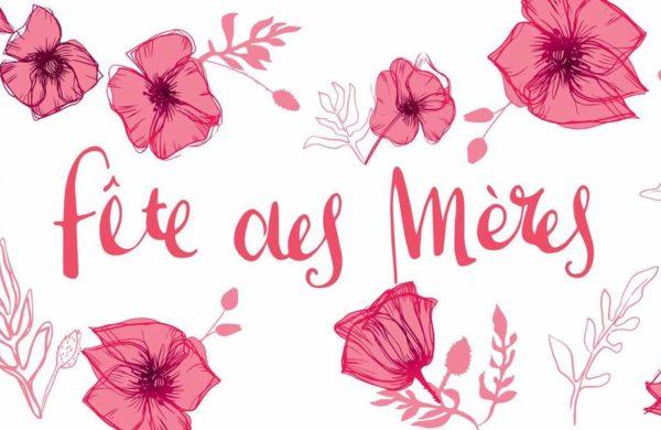 Fête des mères fleurs roses