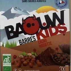 barres baouw kids cacao noisette